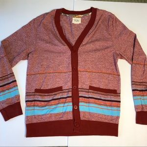 Urban Outfitters Sweaters - Koto Urban Outfitters Red Striped Cardigan Sweater